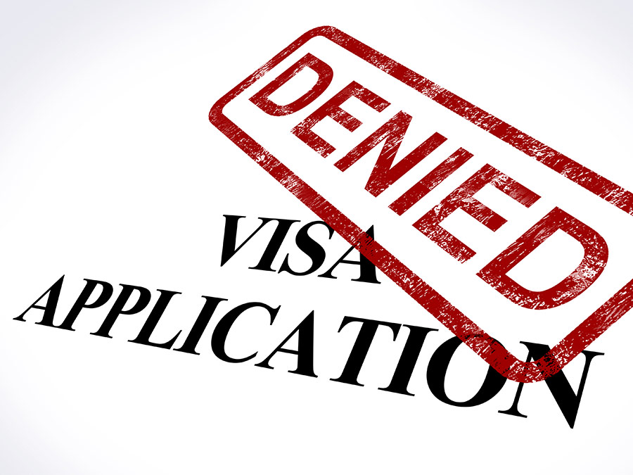 photo of a denied visa application for Canadian Immigration